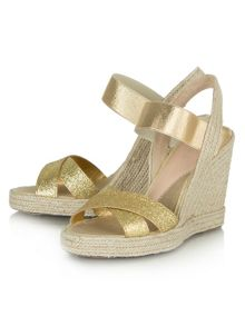 China town glitzy wedge sandals