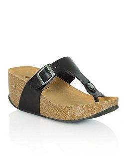 Goldhawk road wedge toe post sandals
