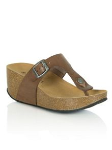 Daniel Goldhawk road wedge toe post sandals