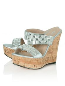 Daniel Shaymen wedged gem sandals