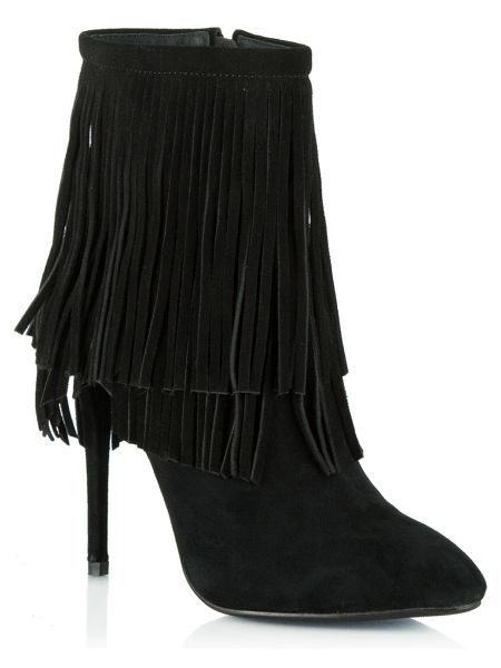 Daniel Positive fringed stiletto ankle boots