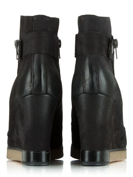 Daniel Adorable two zip wedge ankle boots