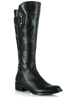 Loyalty leather buckled knee high boots