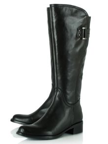 Daniel Loyalty leather buckled knee high boots