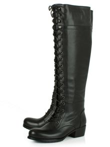 Daniel Priceless lace up front knee high boots