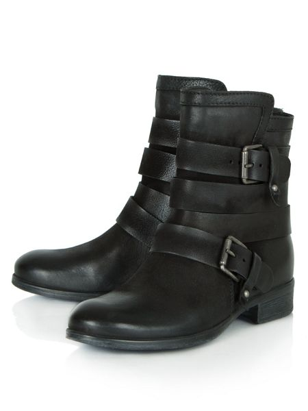 Daniel Marvelous buckle strapped ankle boots