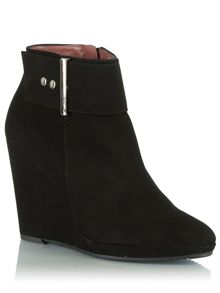 Jumpy buckle wedge ankle boots