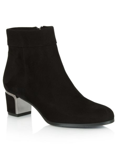 Daniel Enthusiasm metal trim heeled ankle boots
