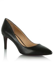 Daniel Maturity leather pointed court shoes