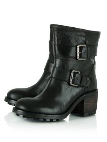 Daniel Surprised  leather biker boots
