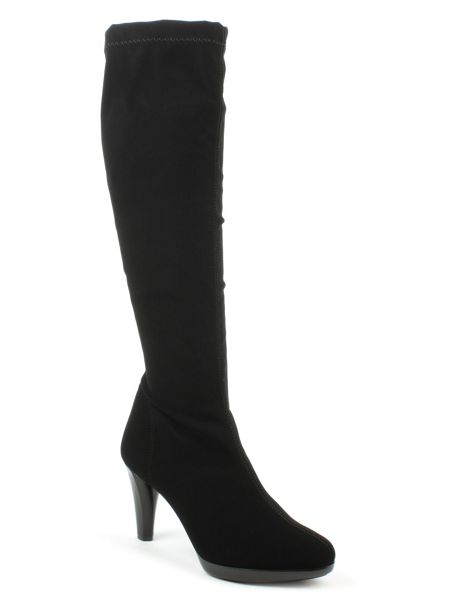 Daniel Relaxed stretch fabric knee high boots