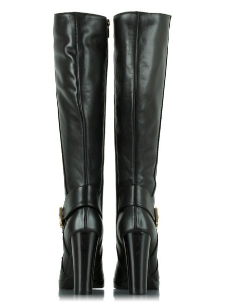 Daniel Elation leather buckled knee high boots