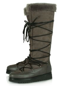 Daniel Noble shearling lined knee high boots