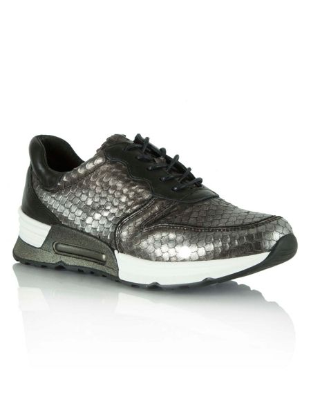 Daniel Strive reptile lace up trainers