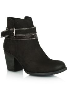Loki leather embellished ankle boots