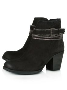 Daniel Loki leather embellished ankle boots