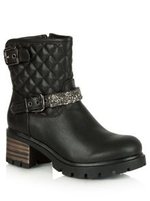 Daniel Gillygate leather quilted biker boots