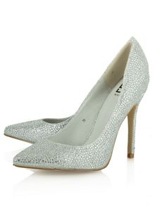 Dunnington diamanté pointed court shoes