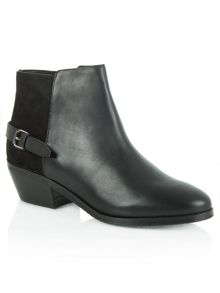 Malbis leather and suede ankle boots