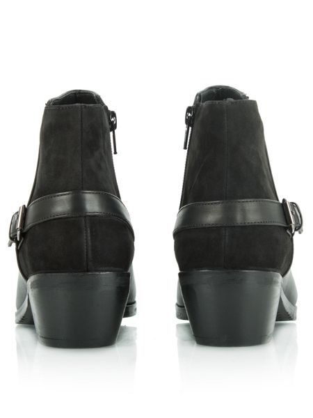 Daniel Malbis leather and suede ankle boots
