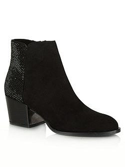Pleasure suede diamante ankle boots