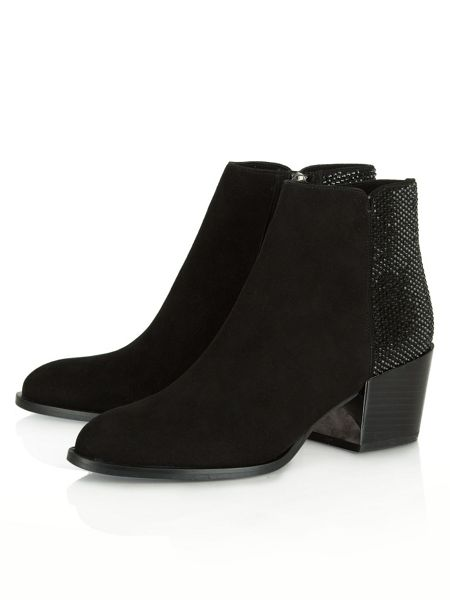 Daniel Pleasure suede diamante ankle boots