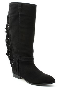 Riverdale fringed knee boots