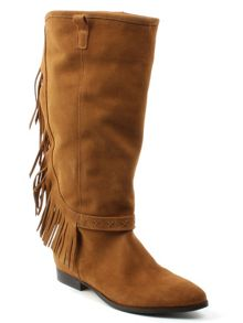 Daniel Riverdale fringed knee boots