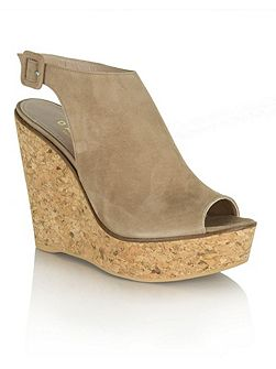 New mexico peep toe ankle strap wedges