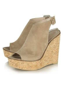 Daniel New mexico peep toe ankle strap wedges