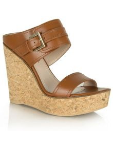 Daniel New orleans two bar wedge mules