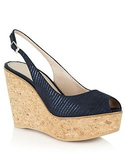 Aldwark peep toe sling back wedges