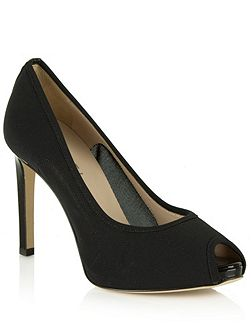 Arlington mesh peep toe court shoes