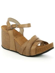 Daniel Beverlywood strappy high wedge sandals