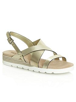 Bloomfield contrast wedge sandals