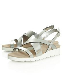 Daniel Bloomfield contrast wedge sandals