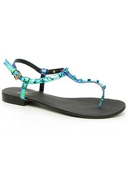 Foxhil studded t-bar toe post sandals