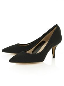 Daniel Garland mesh low heel court shoes