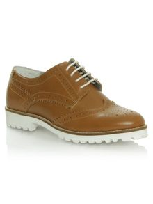 Daniel Haxby white sole brogues