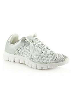 Hollywood hills woven elastic trainers