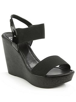 Kefalonia two bar stretch wedge sandals