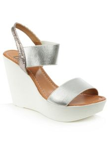 Daniel Kefalonia two bar stretch wedge sandals
