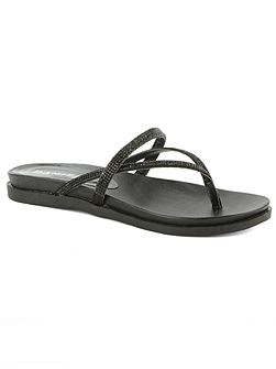 Kintyre diamante toe post sandals