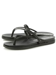 Daniel Kintyre diamante toe post sandals