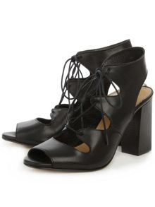 Daniel Long beach lace up block heel sandals