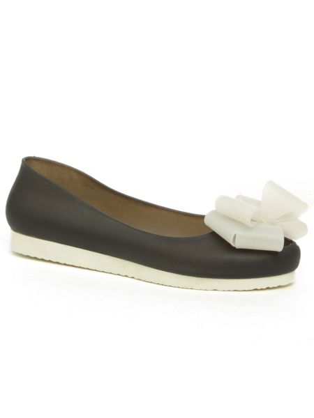 Daniel Lumby contrast bow jelly pumps
