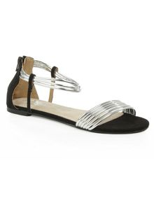 Daniel Overpool metallic strappy flat sandals