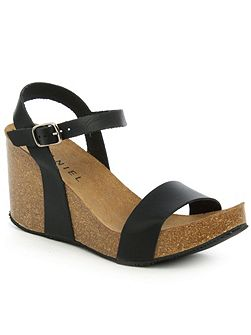 Ryther corked wedge sandals