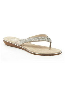 Stanlow crystal toe post sandals