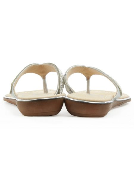 Daniel Stanlow crystal toe post sandals